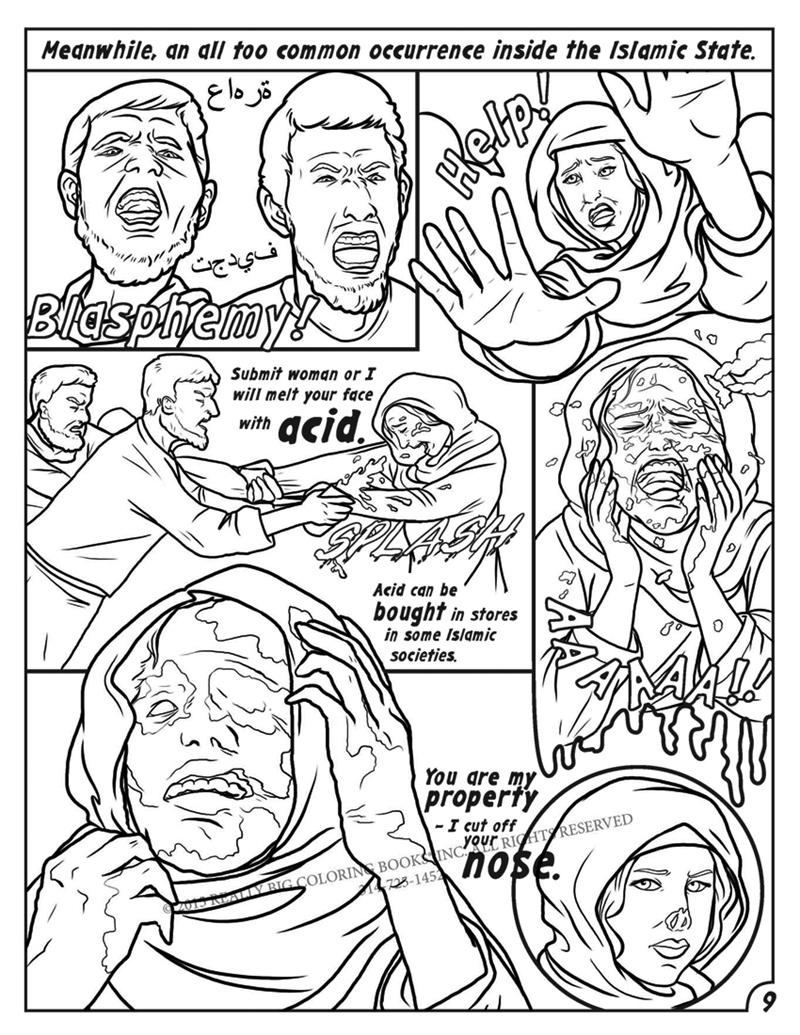 Comic Books | Anti ISIS Coloring Book Comic Culture of Evil