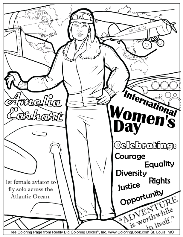 international womens day free coloring page - Coloring Page Woman