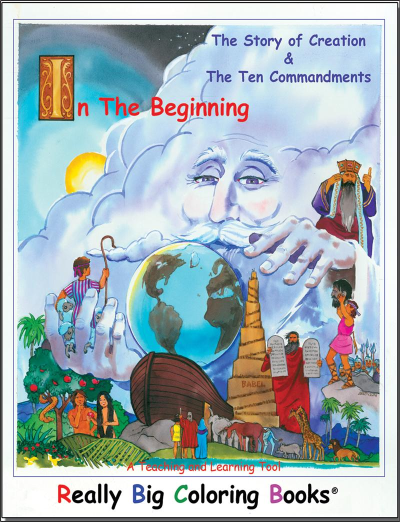 story of creation and ten commandments really big giant coloring book - Giant Coloring Book