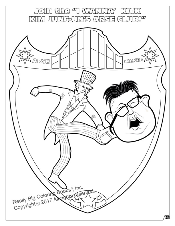 kim jong un im begging the world to kick my ass fun coloring and activit - Fun Coloring Pictures