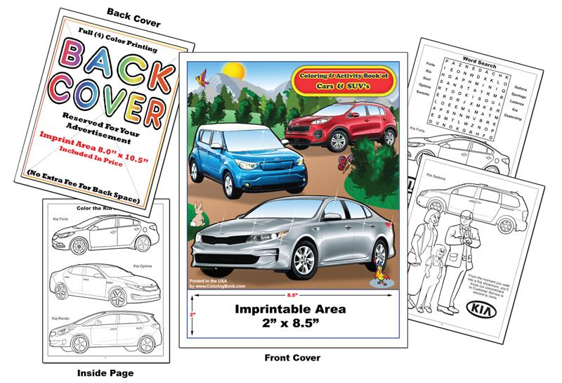 Kia Car Coloring Pages : Coloring books imprint cars kia book