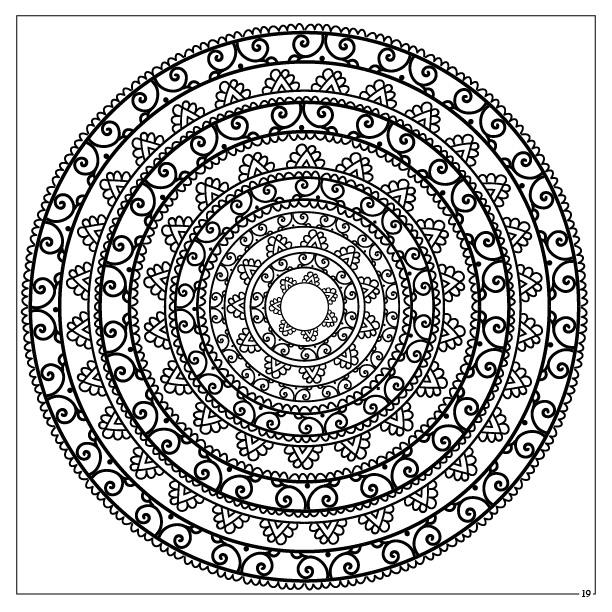 Stunning Mandalas Coloring Book Photos
