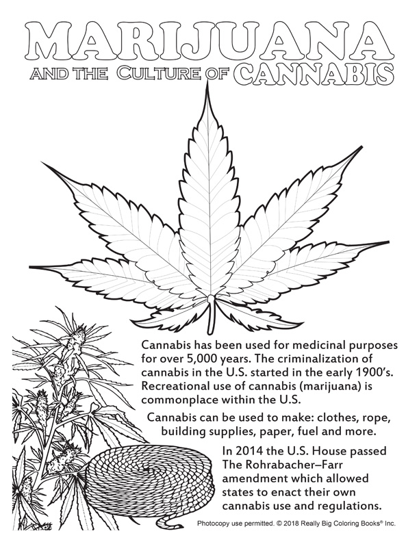 Free Online Marijuana And The Culture Of Cannabis Free Coloring Page -  Coloring Books