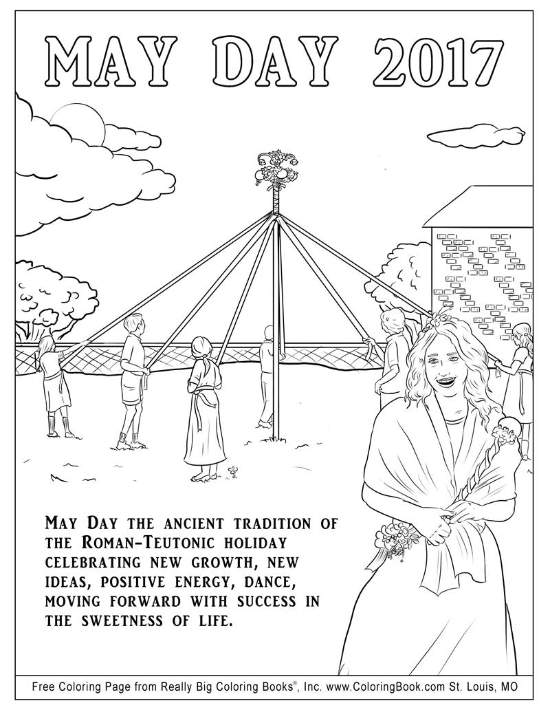 Free Online Coloring May Day Page Coloring Books