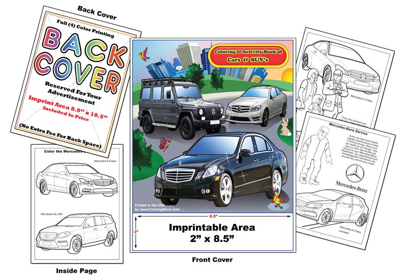 Imprint Cars Mercedes Benz Coloring Book Coloring Books