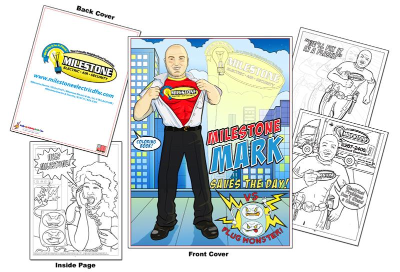 Coloring Books | Milestone Electric - Milestone Mark Saves the Day!