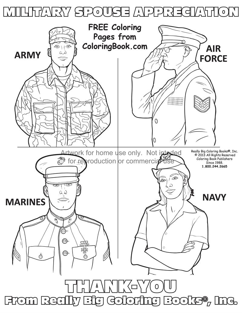 military spouse appreciation day coloring page - Online Coloring Book