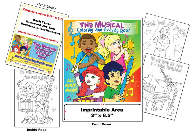 Coloring Books | Custom Imprint Promotional Coloring Books Music