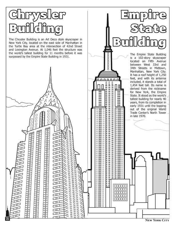 new york city coloring pages - photo#20