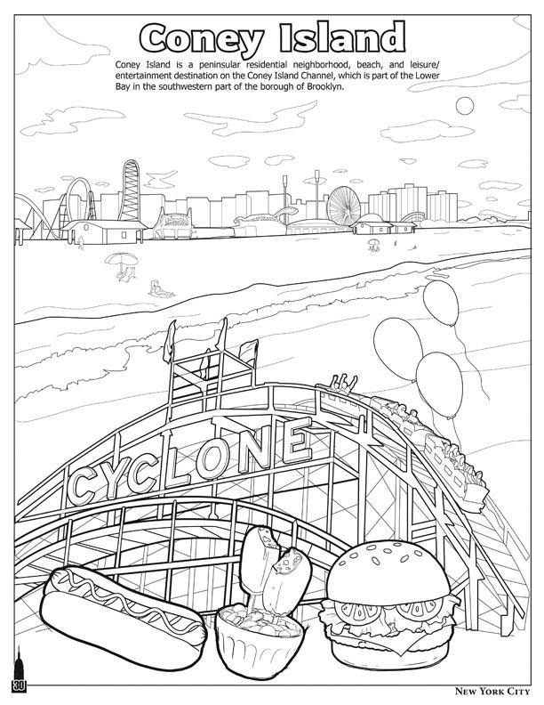 nyc coloring pages - photo#4