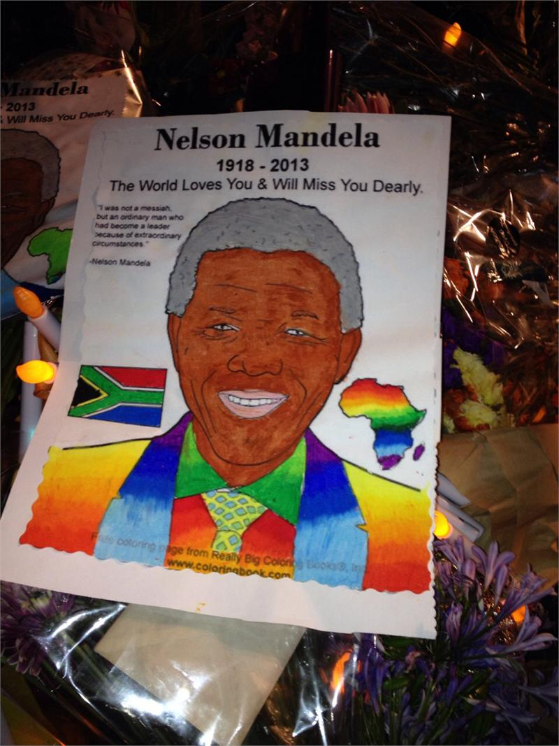 Nelson Mandela Free Online Coloring Page - Coloring Books