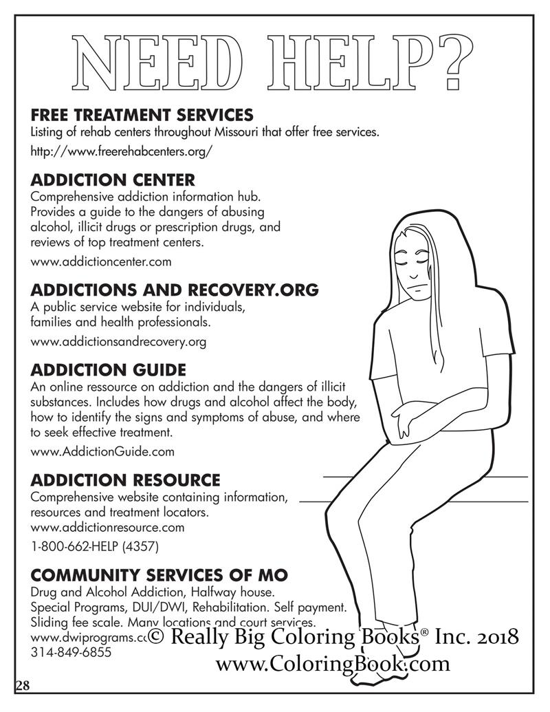 Coloring Books | Opioid Crisis Adult Coloring Book Comic