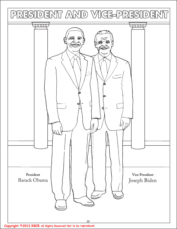 Coloring Books President Barack Obama Vice President Joe Biden