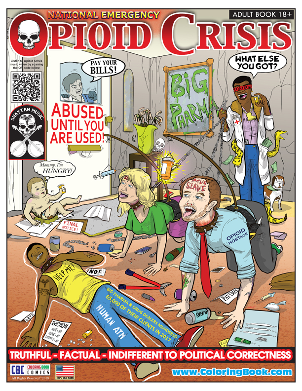 Opioid Crisis Adult Coloring Book Comic - Coloring Books
