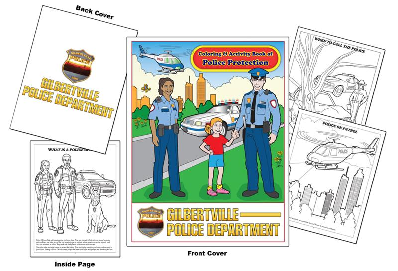 Coloring Books | Custom Imprint Promotional Coloring Books Police