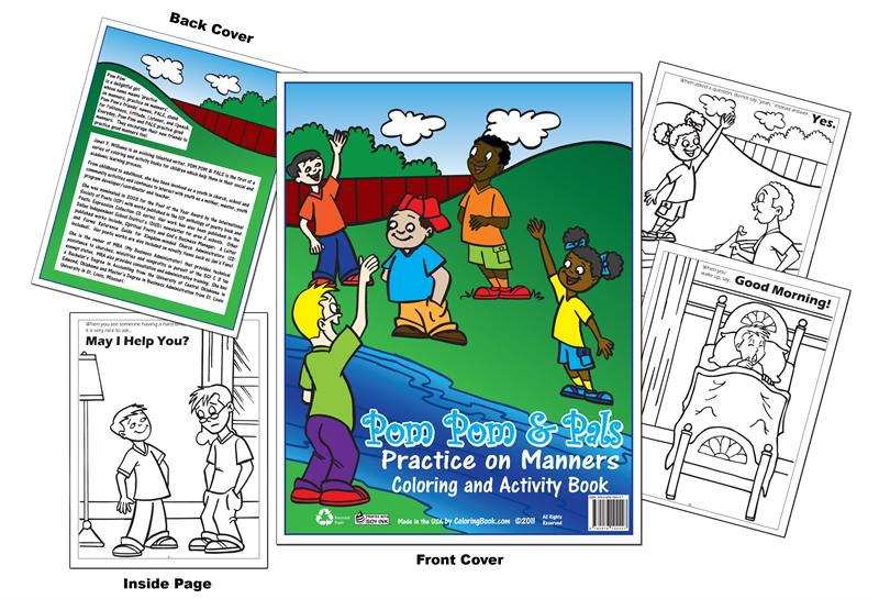 Coloring Books Pom Pom Pals Practice On Manners