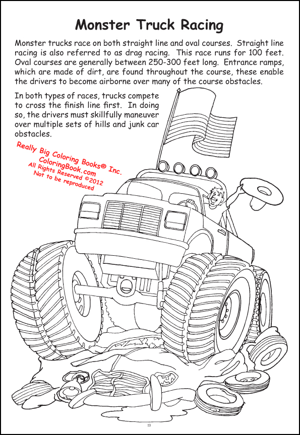 Coloring Books | Racing Giant Tablet coloring book