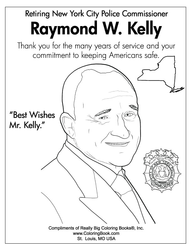 Coloring Books | Ray Kelly - Retiring NYC Police Commissioner Free ...