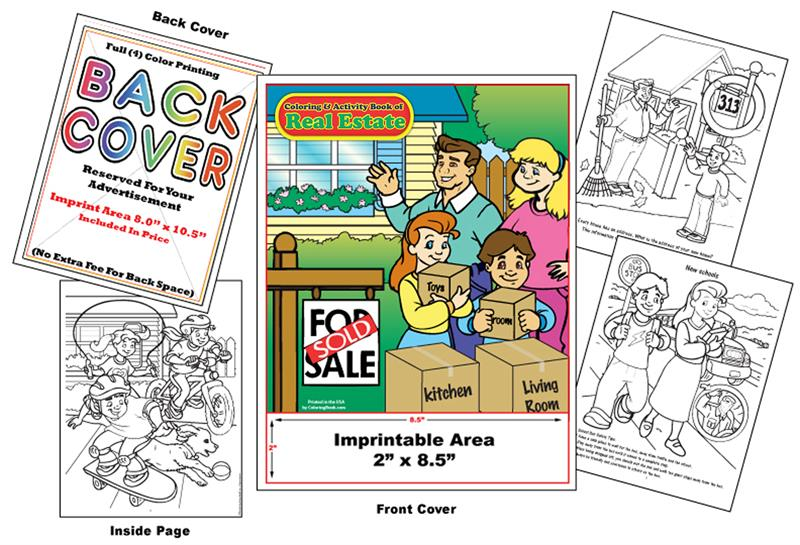 Coloring Books | Custom Imprint Promotional Coloring Books Real Estate