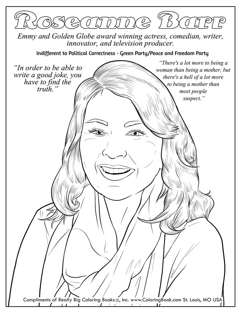 entrevista roseanne coloring pages | Coloring Books | Roseanne Barr Free Online Coloring Page