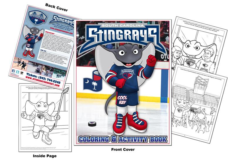 coloring books south carolina stingrays hockey coloring book