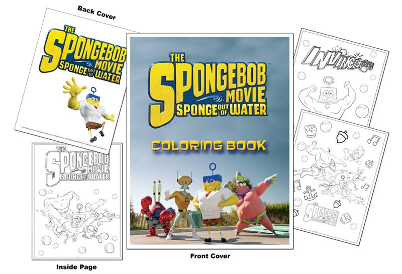 Coloring Books | The Spongebob Movie - Sponge Out of Water Coloring Book