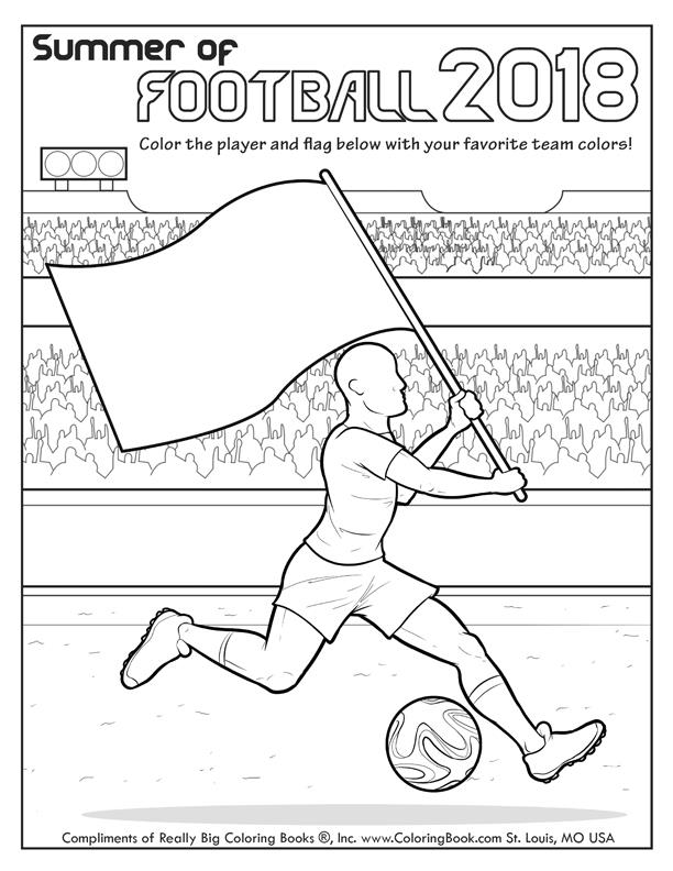 Free Online Coloring Summer Of Football 2018 Page - Coloring Books