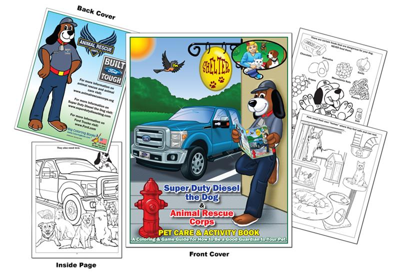 Animal Protection Organization Rescue Corps To Bring You This Coloring Book Full Of Fun Activities And Important Information About Taking Care