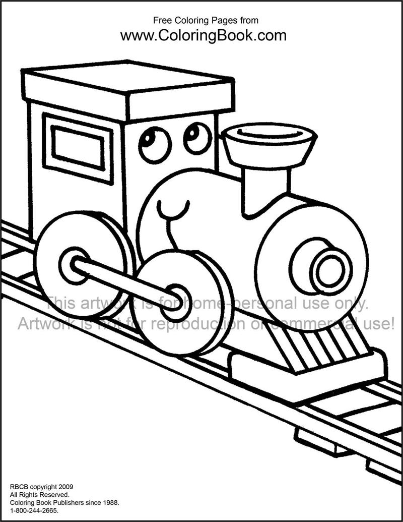 Coloring Pages Trains : Coloring pages free online train