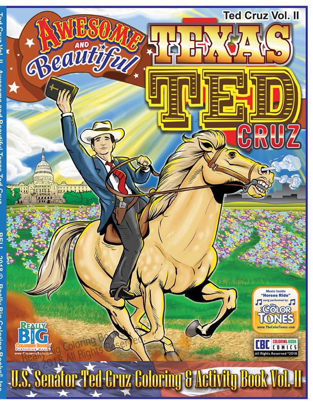 Texas Ted Cruz Awesome and Beautiful Coloring ... - Coloring Books