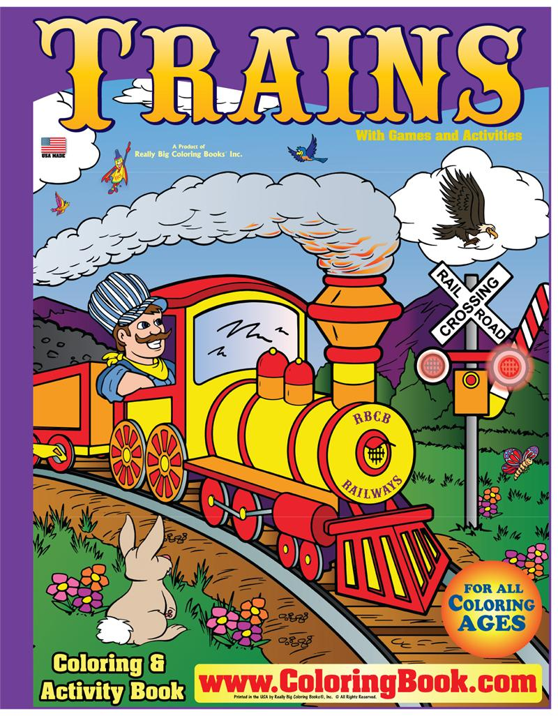 Trains Really Big Coloring Book - Coloring Books