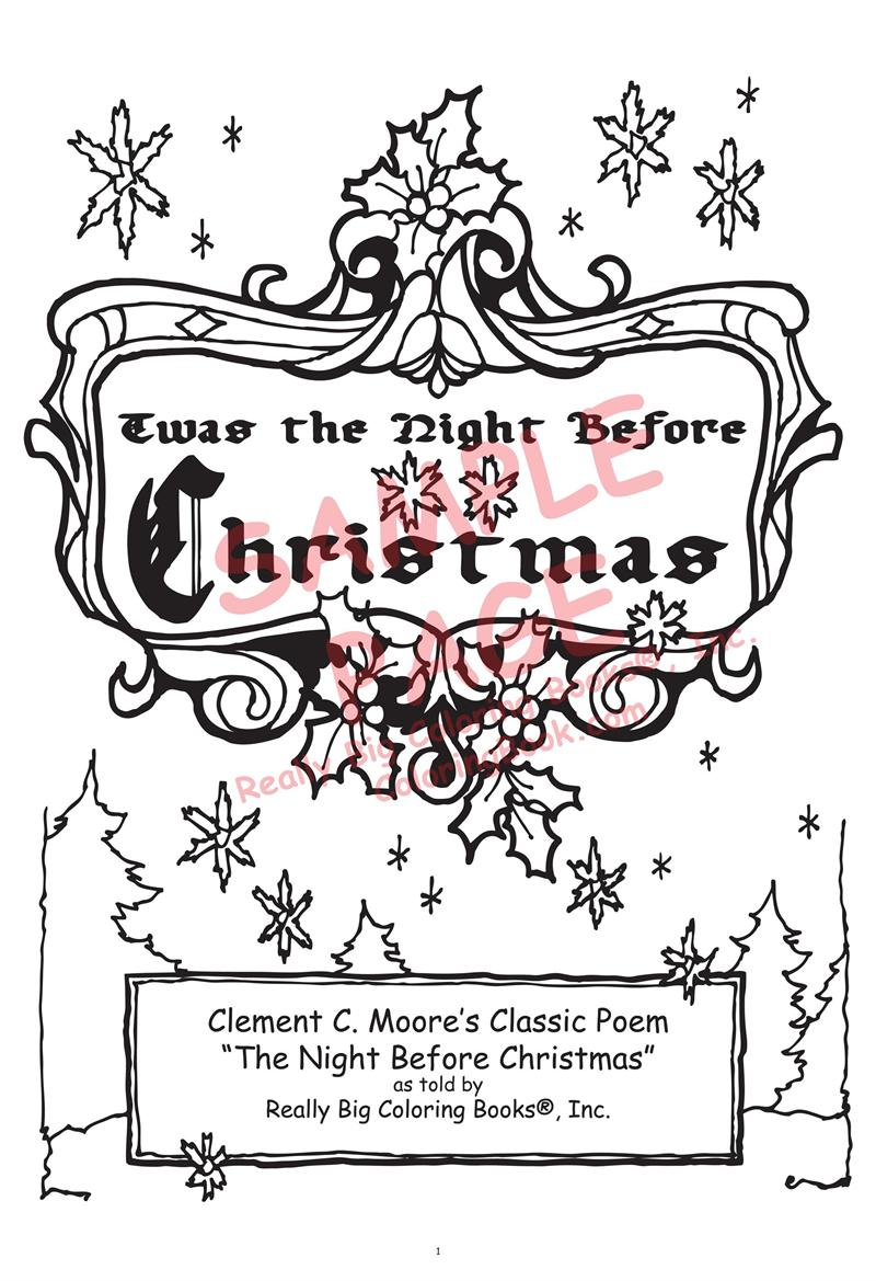classic poem the night before christmas coloring book