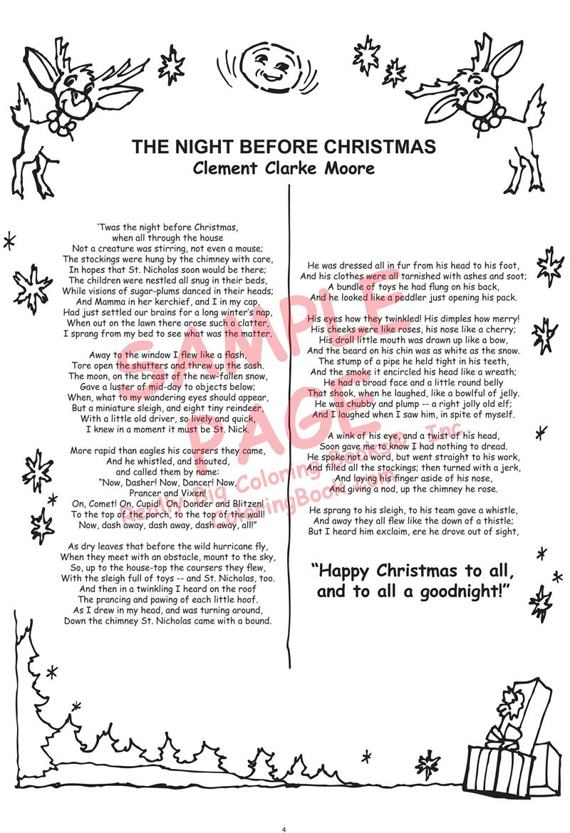 It's just a photo of Persnickety Twas the Night Before Christmas Printable