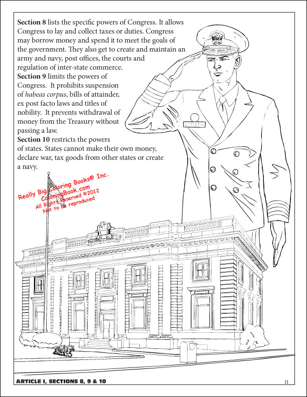 Attractive Constitution Coloring Page
