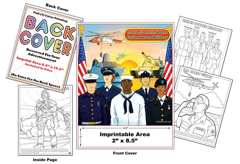 Coloring Books | U.S. Military Imprint Promotional Coloring Books