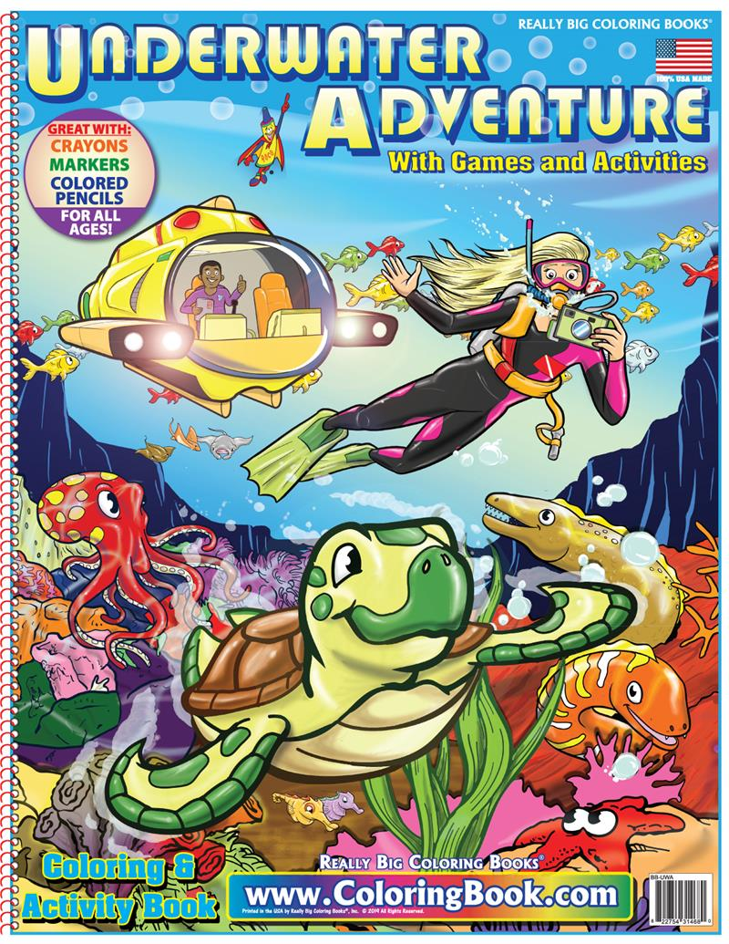 Underwater Adventure Really Big Coloring ... - Coloring Books