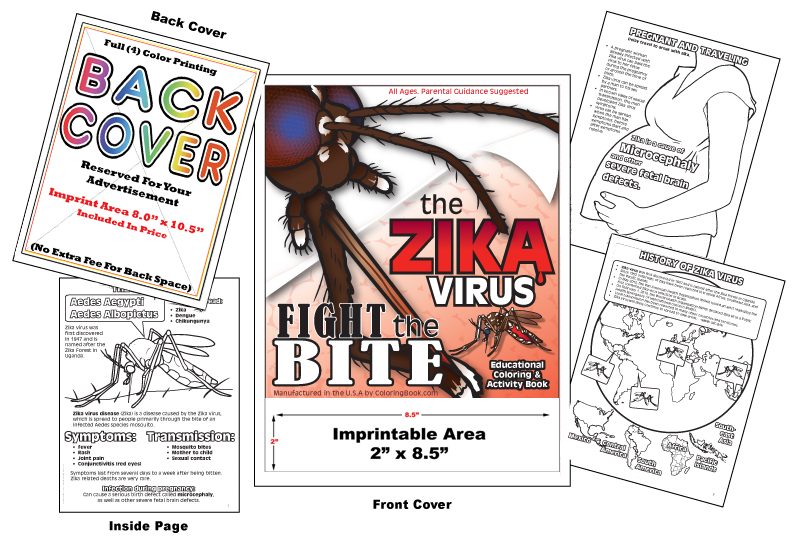 Coloring Books | Custom Imprint Promotional Coloring Books Zika Virus