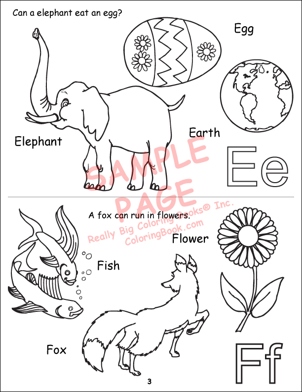 Coloring Books My Alphabet Book Abc 123