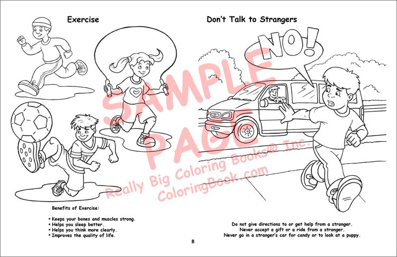 Child Safety LapTop Coloring Book