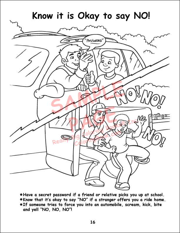 44 Top Child Safety Coloring Pages Download Free Images