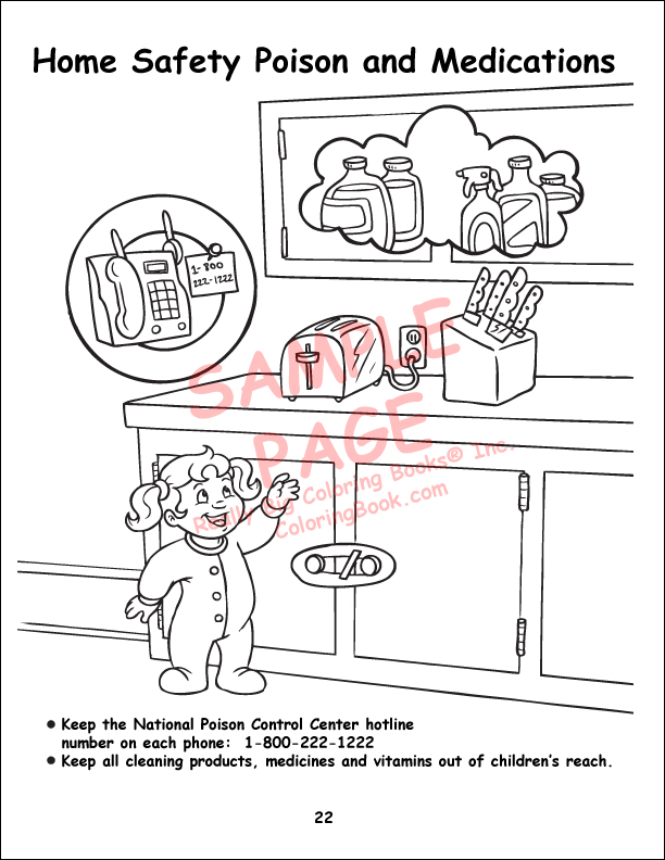 child safety power panel coloring book - Color Books For Toddlers