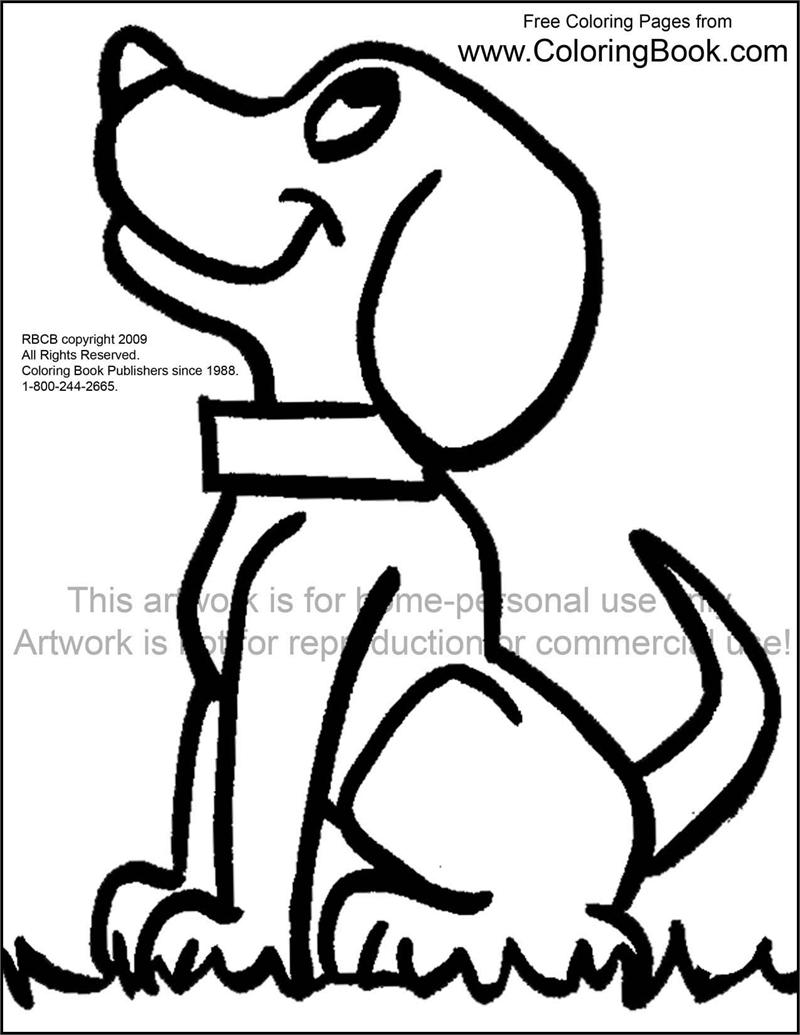 coloring book pages dogs - photo#28