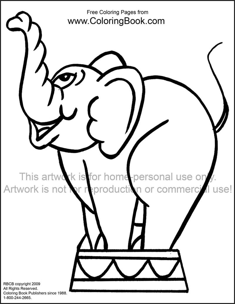Free Online Coloring Pages Elephant