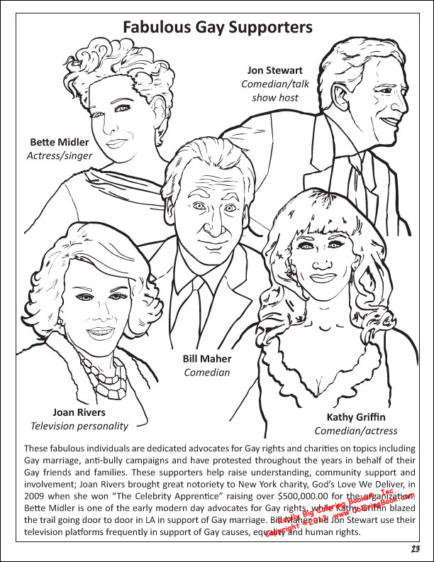 This is an image of Ambitious Gay Coloring Book