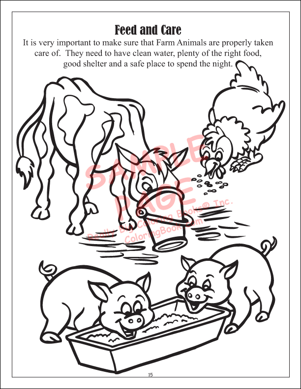 Food And Fun On The Farm Power Panel Coloring Book