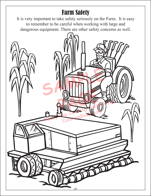 Food And Fun On The Farm Power Panel Coloring Books