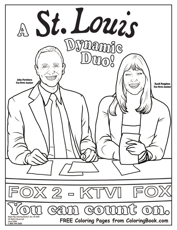 Coloring Books | FOX 2 NEWS Morning Anchors Free Online