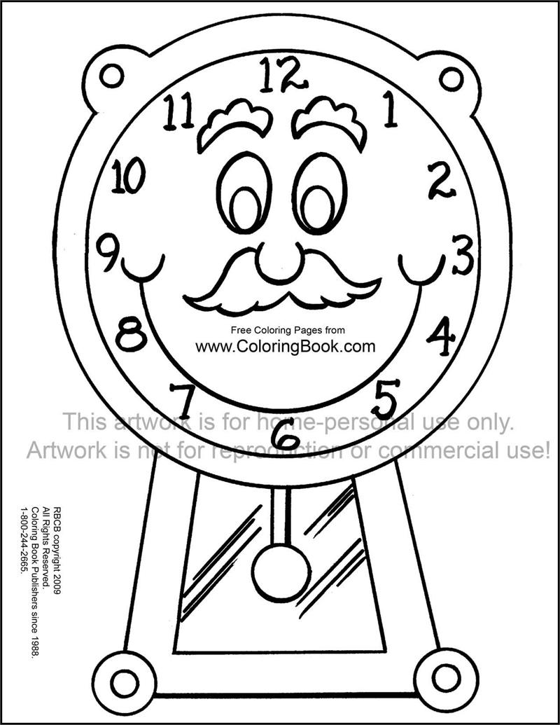 Coloring Pages | Free Online Coloring Pages-Clock