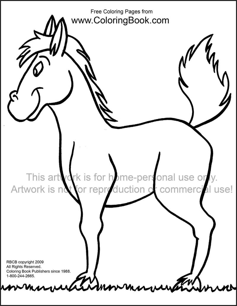 Coloring book pages of horses - Free Online Coloring Pages Horse