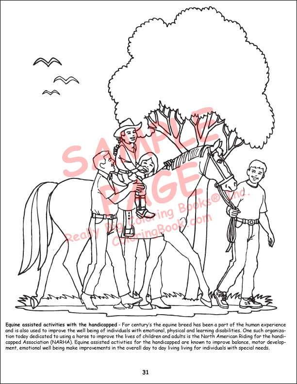Coloring Books Horses Really Big Giant Coloring Book with Horses